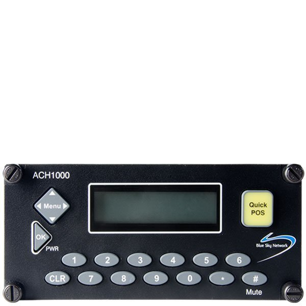 image of a small black device with an LED screen and dialing buttons